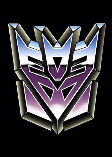 TRANSFORMERS - DECEPTICON LOGO BLACK canvas print - self adhesive poster - photo print